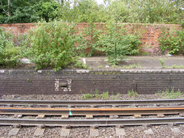 Disused platform at Trimley station