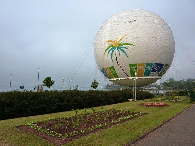 Captive balloon, near Torre Abbey, Torquay