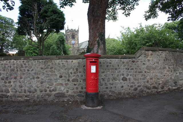 Postbox, High Green, Brompton