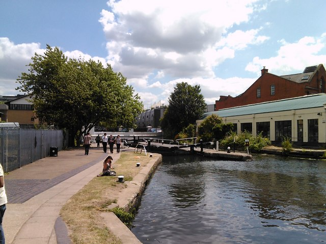 Hawley Lock, viewed from the canal towpath