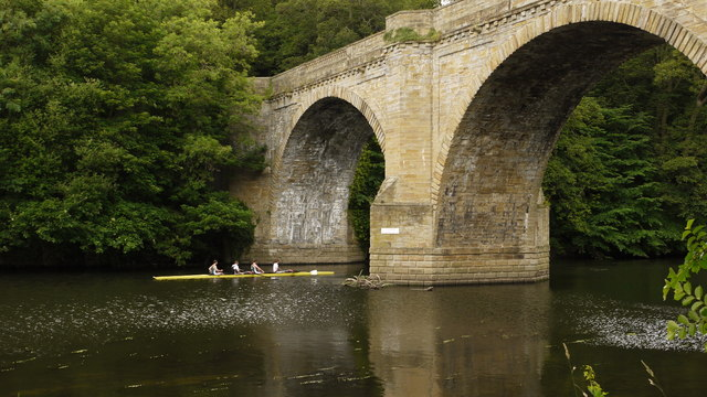 Prebends' Bridge Over River Wear in Durham