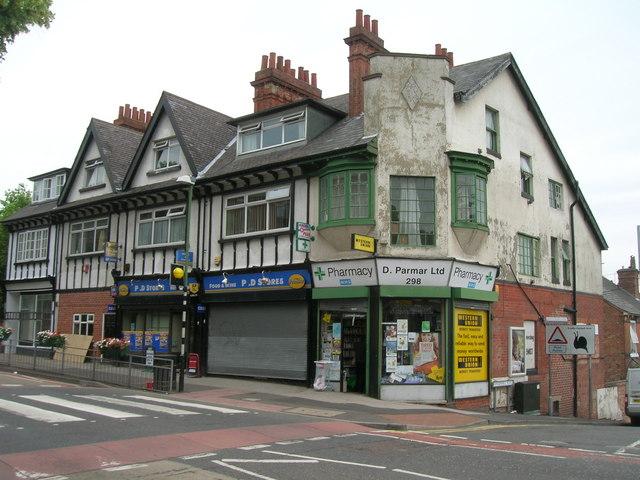 Shops on Woodborough Road, Nottingham