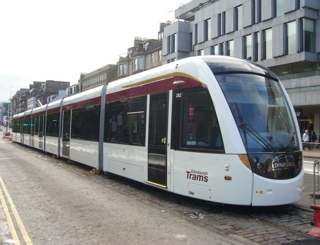 Stationary Edinburgh tram, Princes Street
