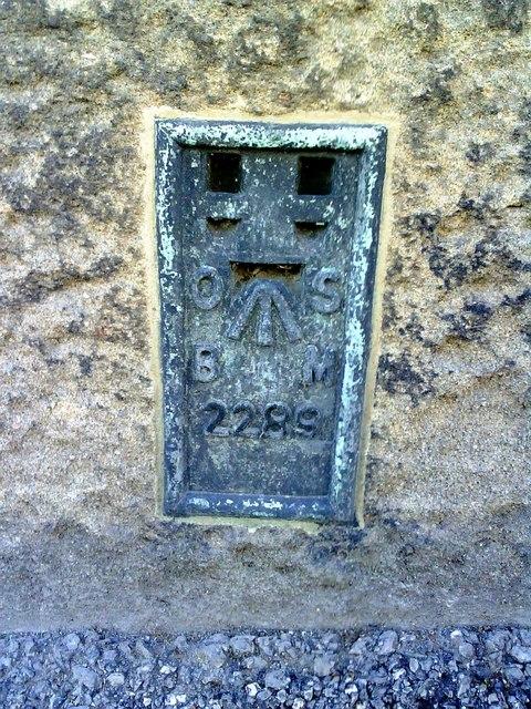 Rectory Lane, Ordnance Survey Flush Bracket benchmark