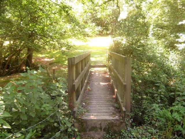 Footbridge near the railway bridge
