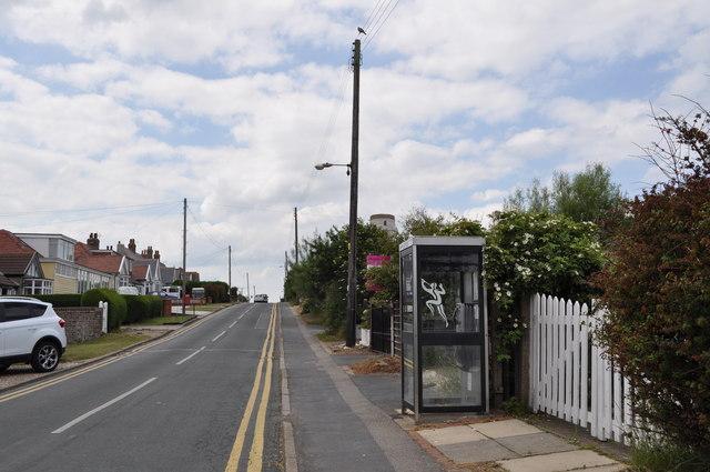 Telephone kiosk at Flamborough Head