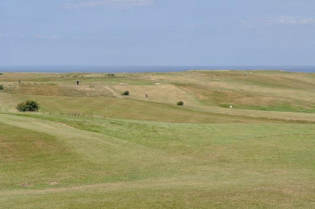 Looking across Flamborough Head golf course