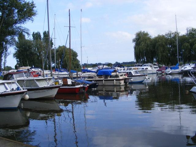 The marina at Waveney River Centre