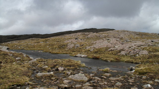 Lochan on slope South of Beinn a Chlachain
