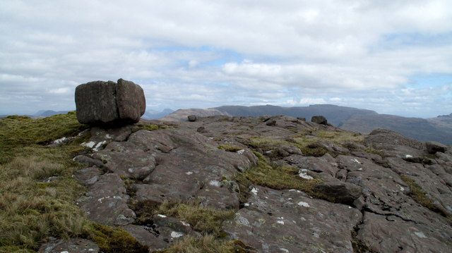 Sandstone Slabs With Perched Boulders