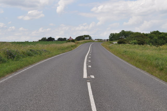 Section of A165 permanently closed due to subsidence