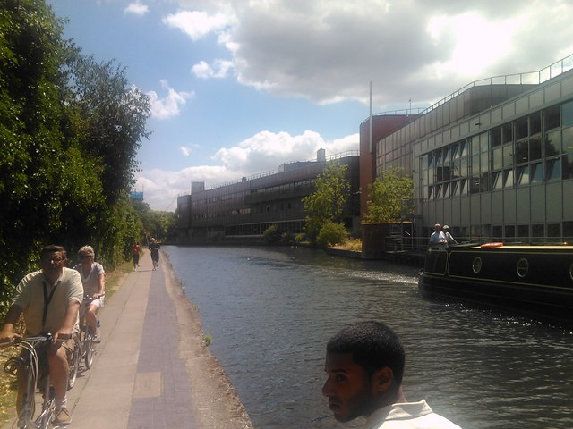 Canalside flats past the St Pancras Way bridge #3