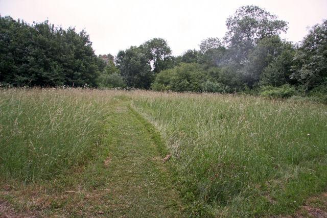 Footpath to Kettlebaston church