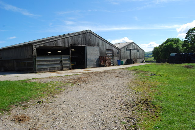 Modern cattle sheds at Low Birkwith