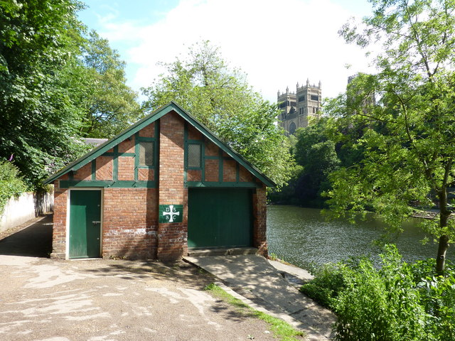 Durham School Boating Club. The clubhouse