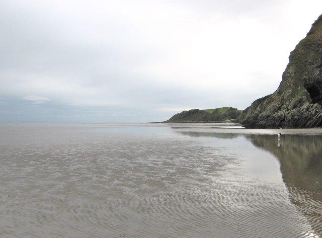 Low tide on Portling Sands