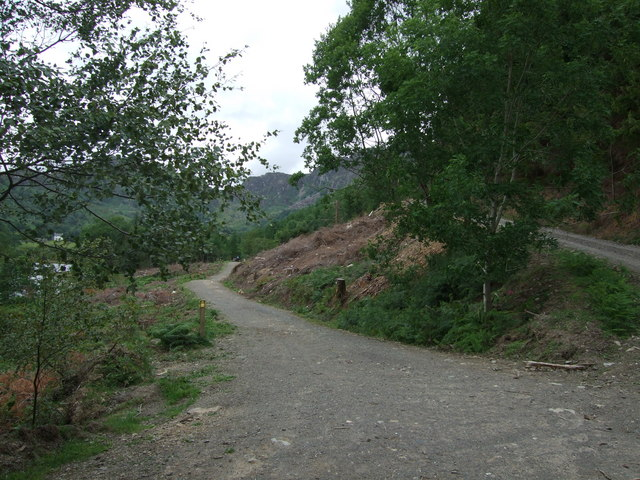 Track on north shore of Llyn Crafnant
