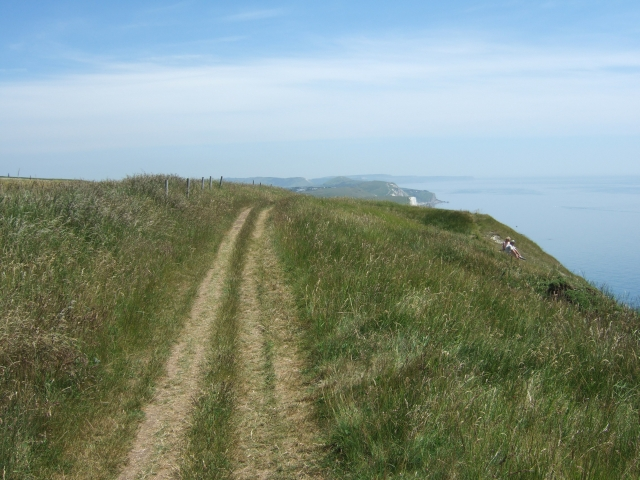 South West Coast Path in The Warren (looking east)