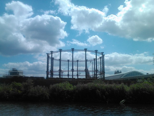 Gas holder at King's Cross