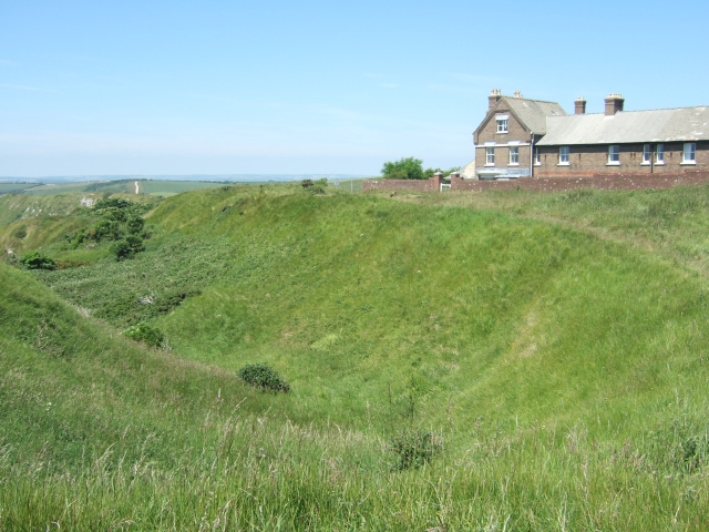 The ditch of the Iron Age fort at White Nothe