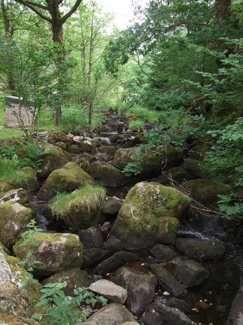 Boulders in stream near Hendre