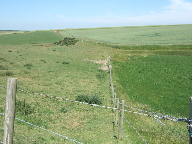 Fields beside the coast path