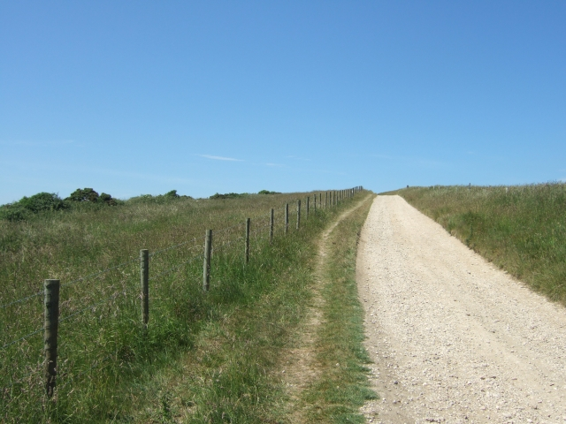 The path to the car park at South Down Farm