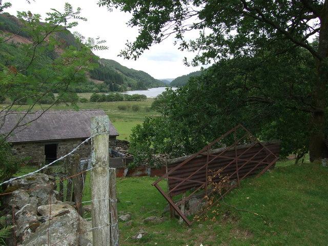 A rusty open gate near Llyn Crafnant