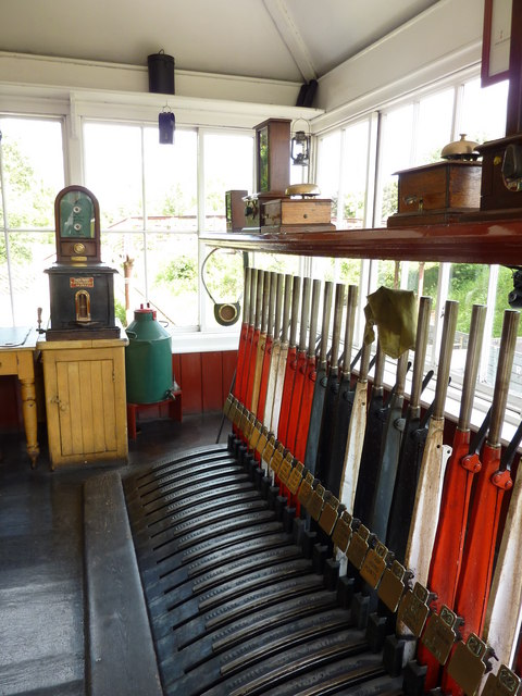 Signal box at the Railway Station, Beamish Open Air Museum