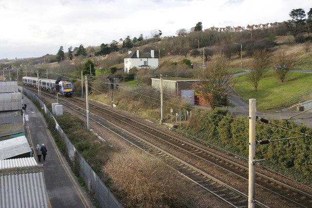 C2C train leaving Leigh-on-Sea
