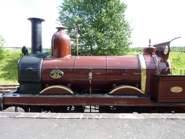 Steam locomotive in the station