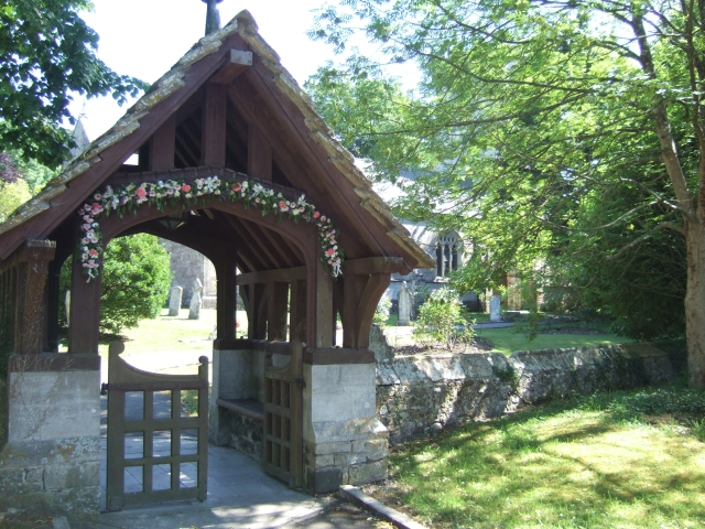 Lych gate of the church at Winfrith Newburgh