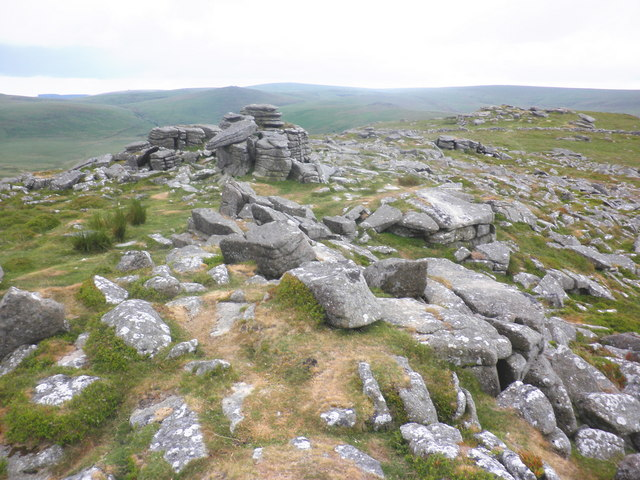 The rocky summit of Belstone Tor