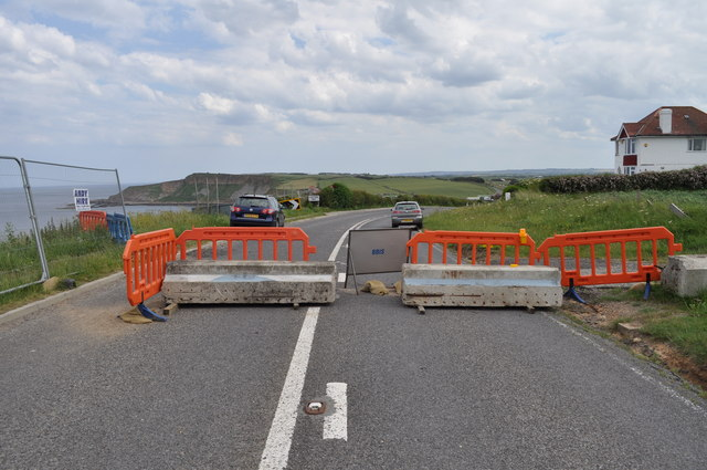 A165 at Cayton Bay - closed permanently due to subsidence