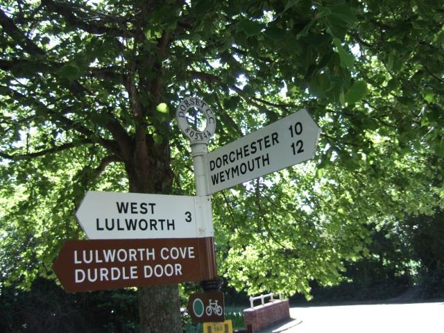 Signpost at Winfrith Newburgh
