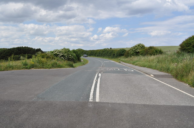 Old A165 at Cayton Bay - now replaced by bypass
