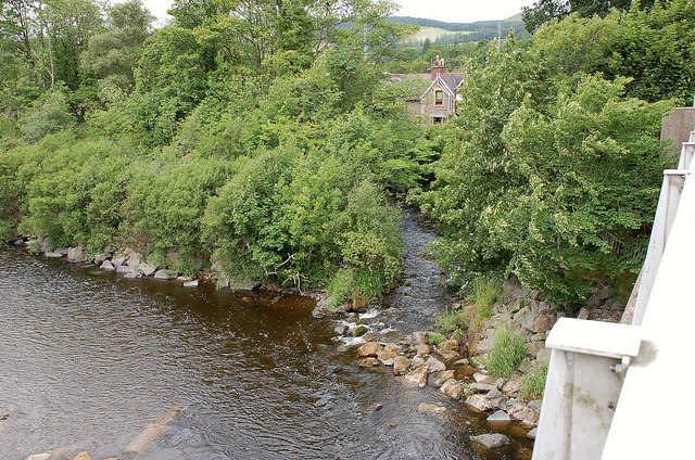 The mill lade from Selkirk Bridge