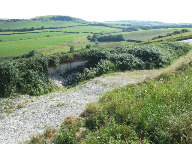 Chalk pit by the Five Marys