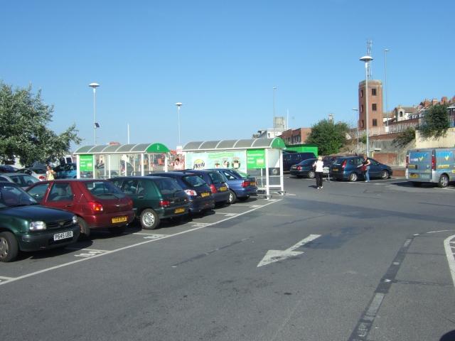 Cars parked at Asda in Weymouth
