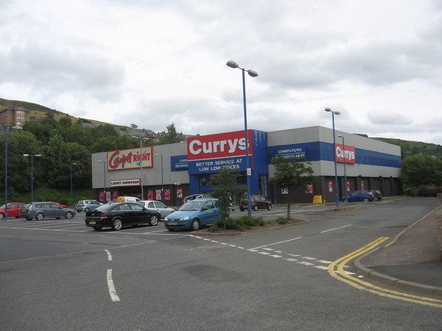 Retail park in Galashiels of Wilderhaugh Street