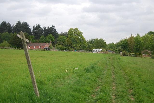 Sussex Border Path heading to Freshfield Lane