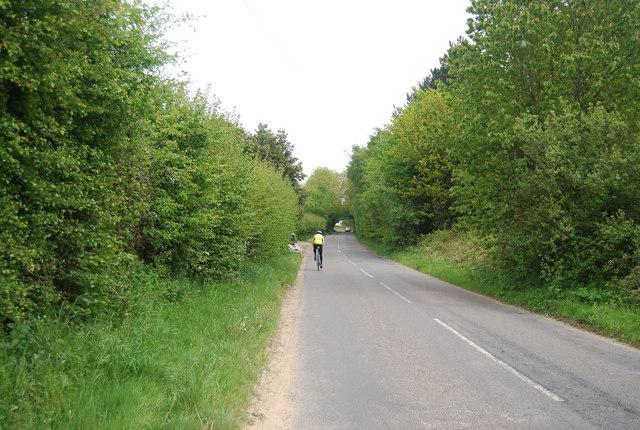 Cyclist on Freshfield Lane