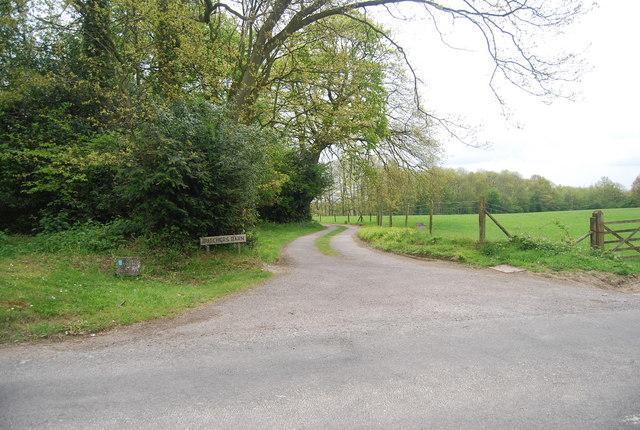 Sussex Border Path heads south off Freshfield Lane