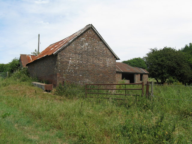 Disused farm buildings south of Redbridge Farm