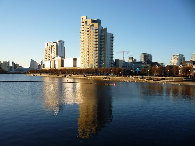 Swanky flats at Salford Quays