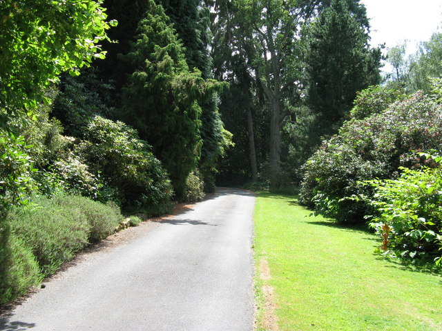 Landscaped driveway to Brook House