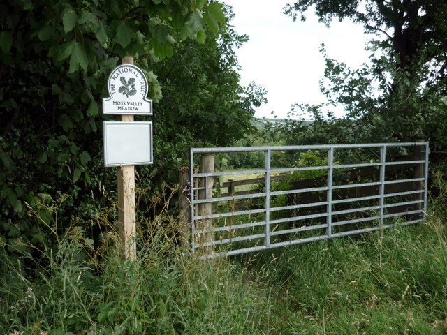 Gate & National Trust Sign, Moss Valley, Derbyshire