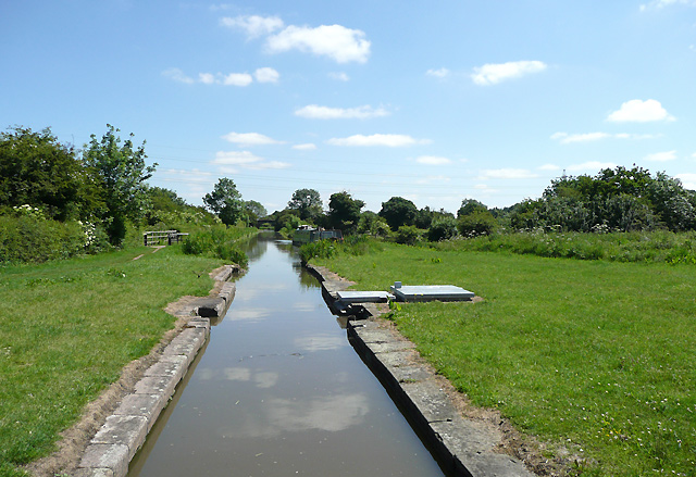 The start of the Ashby Canal at Marston Junction, Warwickshire