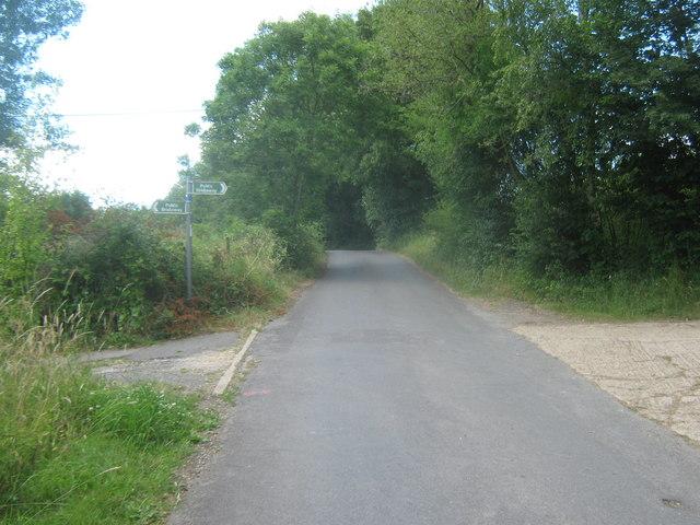 Bridleway crosses Smithers Lane