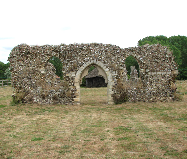 Langley - remains of the abbey